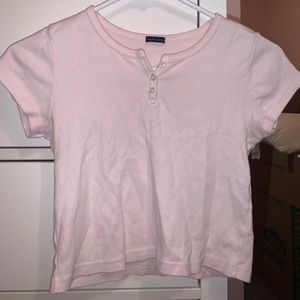 Rare Light Pink Brandy Melville Crop Top